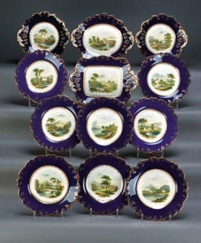 An English porcelain dark-blue
