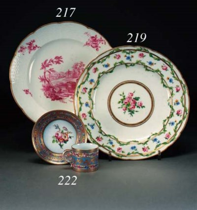 A Sèvres lobed plate
