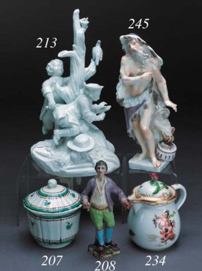 A Vienna cream jug and cover