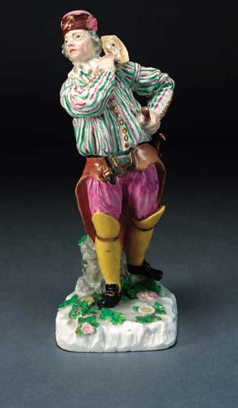 A Meissen (later-decorated) fi
