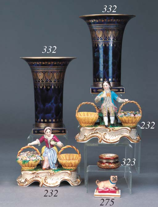 A Viennese enamel box and hing
