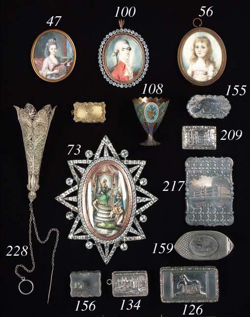 A George III gilt-lined snuff