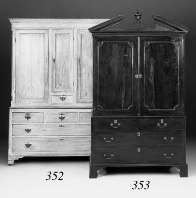 A pine cabinet, 19th century
