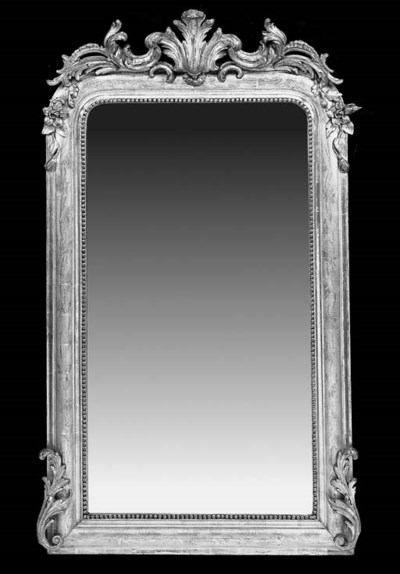A French carved giltwood overm