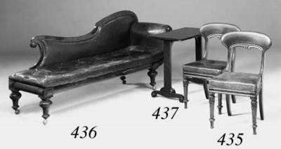 A Victorian mahogany chaise lo