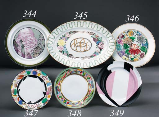 A Soviet porcelain Abstract Pl