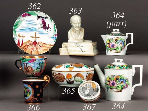 A Soviet porcelain floral Choc
