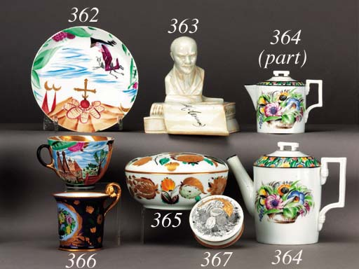 A Soviet porcelain Powder-box