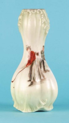 A HANDEL GLASS FLOWER-VASE
