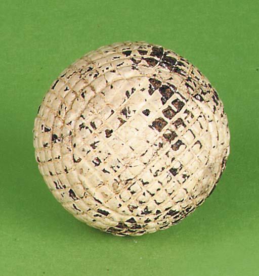 A MACHINE CUT GUTTY BALL