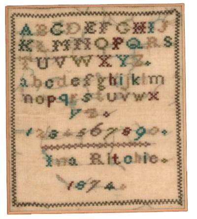 An Irish cross stitch sampler
