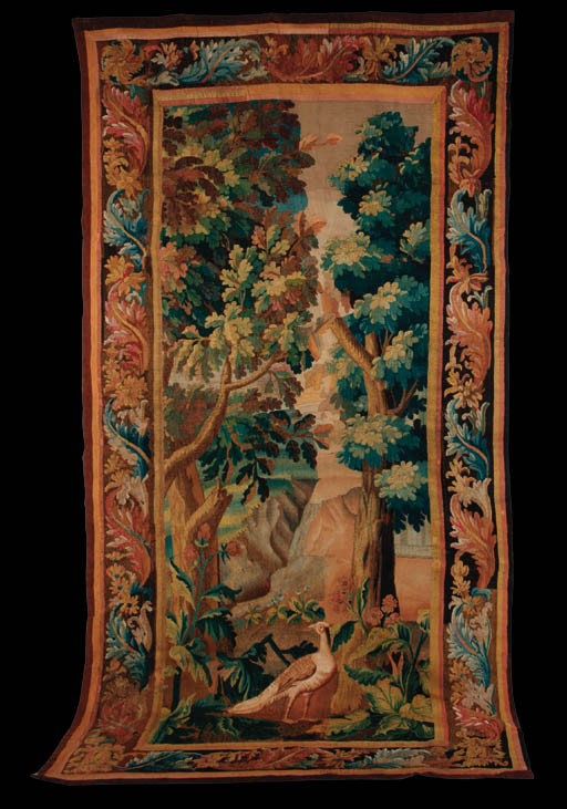 An Aubusson tapestry fragment,