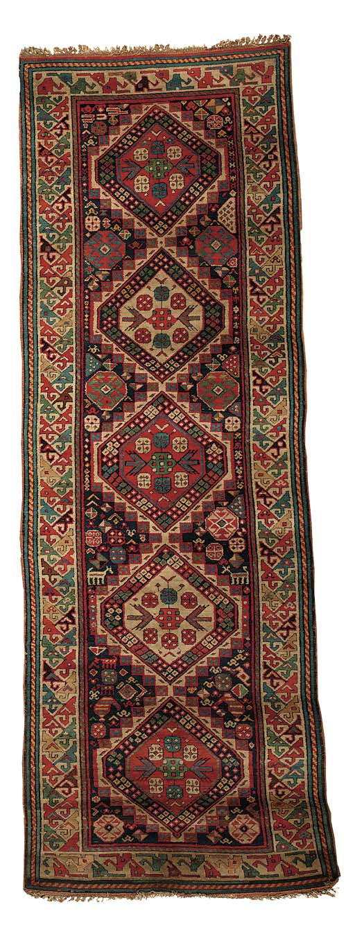 An fine antique Kuba runner