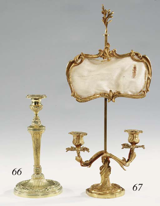 A pair of French bronze twin l