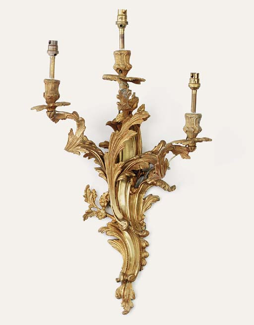 A pair of Louis XV style gilt