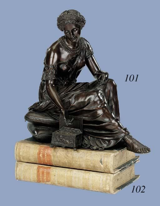A French bronze figure of a wo