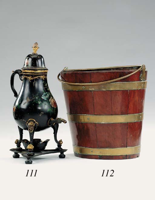A Dutch brass bound mahogany k