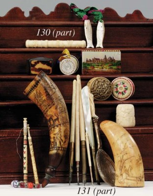 Various items of ivory, tortoi