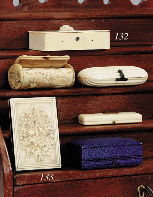 Four items of ivory and bone,