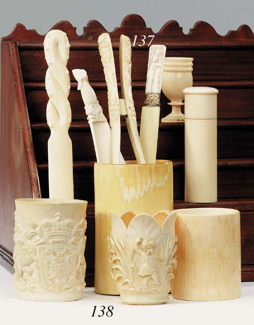 A Central European carved ivor
