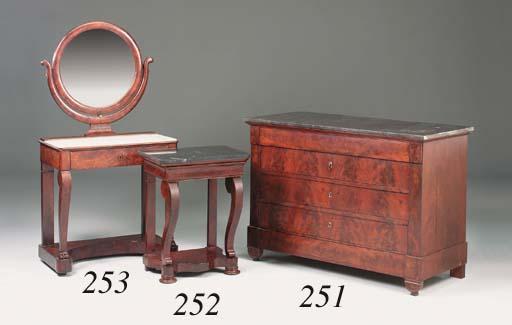 A Charles X mahogany dressing