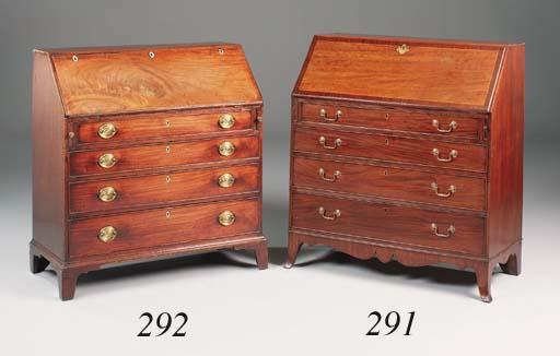 A George III mahogany boxwood