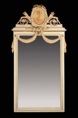 A painted and parcel-gilt pier