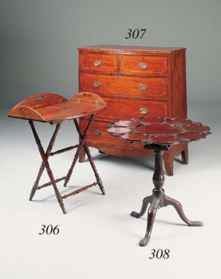 A mahogany supper table, late