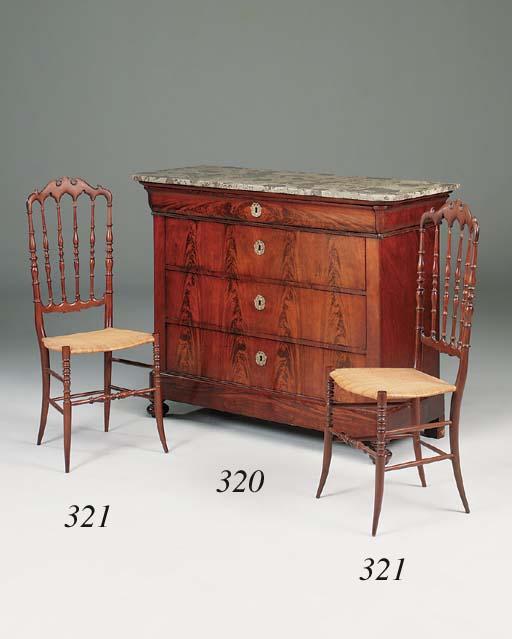 A Louis Philippe mahogany comm