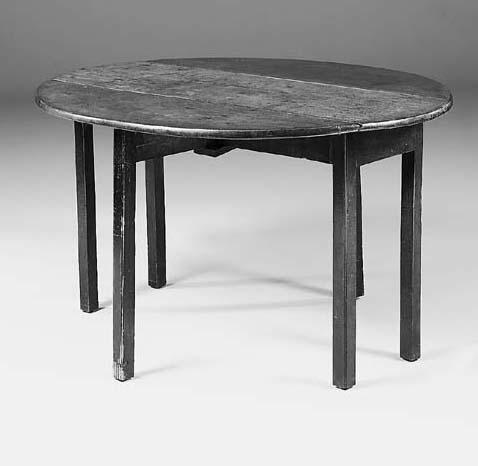 A mahogany drop-leaf table, 18