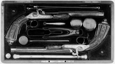 A Cased Pair Of 54-Bore Percus
