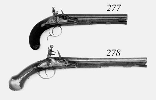 A Pair Of 16-Bore Brass-Mounte