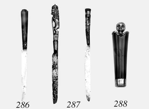 A Group Of Five Table-Knives