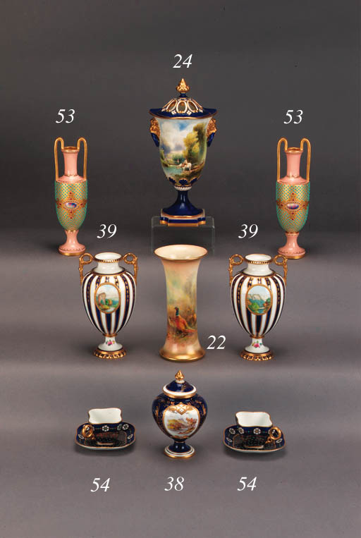 A Royal Worcester tapering cyl