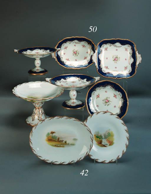 A Minton porcelain part desser
