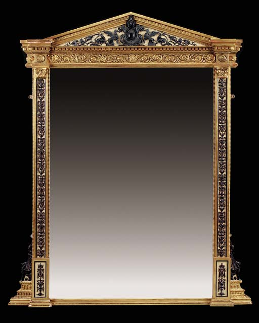 A large Victorian painted and