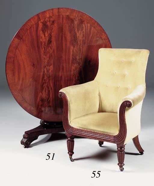 An early Victorian mahogany ci