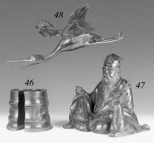A Japanese bronze model of Jur