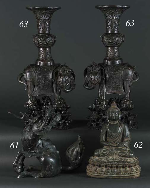 A late Ming bronze figure of a