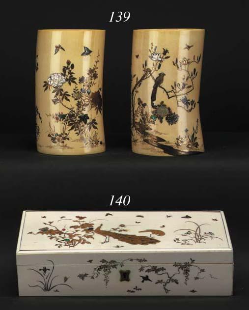 A pair of Shibayama-style ivor