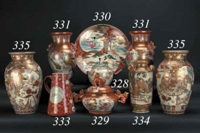 A Satsuma hexagonal vase