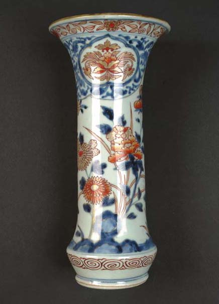 An Arita flaring trumpet vase