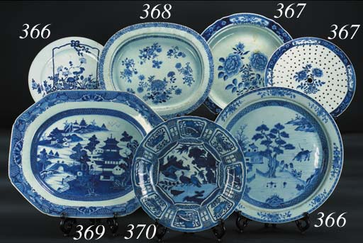 Two Chinese blue and white Kra
