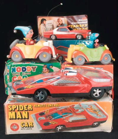 Spider-Man, Noddy, Tom and Jer
