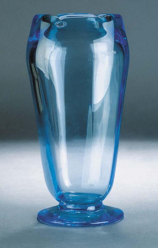A Powell blue vase