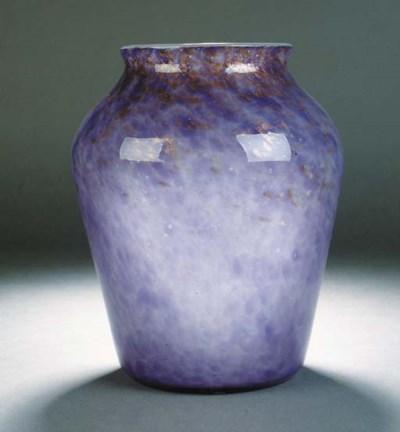 A Monart lilac vase