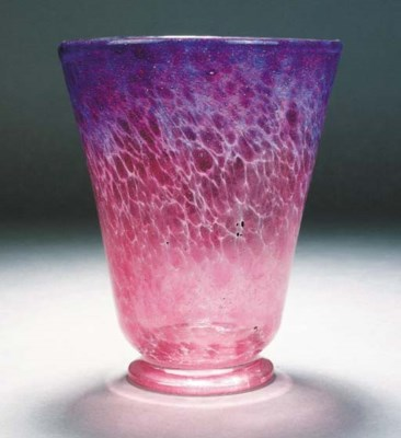 A Monart purple mottled vase