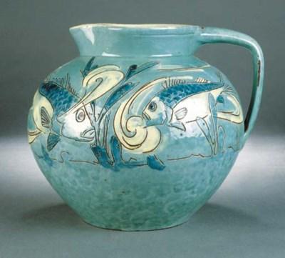 A C H Brannam fish jug