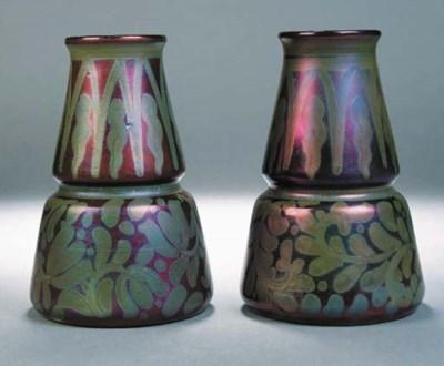 A pair of Burmantoft lustre va