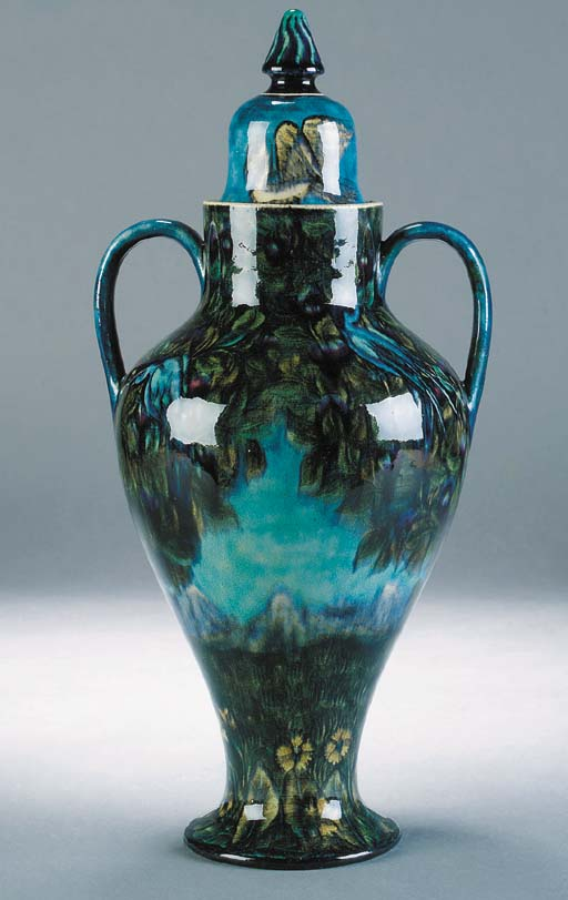 A rare William de Morgan vase